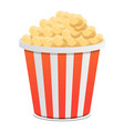 popcorn bucket icon cartoon style vector image vector image
