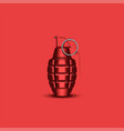 realistic hand grenade 3d military isolated vector image vector image