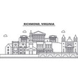 richmond virginia architecture line skyline vector image vector image