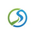 river logo template vector image vector image
