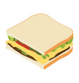 sandwich isometric view vector image vector image