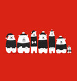 santa bears family sketch for your design vector image