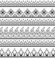 Seamless Thai pattern repetitive design vector image vector image