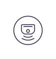 sensor line icon vector image