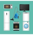 Set of household appliances Modern kitchen vector image