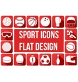 Set of sport icons in flat design vector image