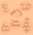set with easter holiday lettering vector image