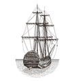 ship logo design template frigate or vector image vector image