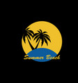summer beach logo image vector image