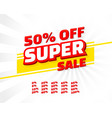 super sale off shop new banner set collection vector image