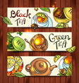 tea banners vector image