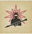 terrorist with grenade launcher vector image