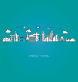 travel and tourism skyline line style illus vector image