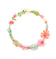 tropical flower composition tropic wreath vector image vector image