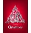 White paper christmas snowflake EPS 10 vector image vector image