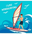 Windsurfing Background vector image vector image