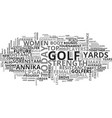 Women golfers have the drive for success text vector image