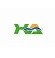 XA initial company group logo vector image