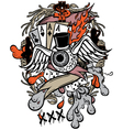 gambler tattoo vector image