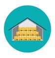 Warehouse flat icon vector image