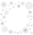 Decorative frame of round ornament spirograph vector image