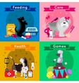 Dogs Breed Flat Icon Set vector image
