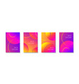 abstract colroful gradient background with circles vector image