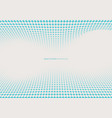abstract dynamic wave blue square halftone on vector image