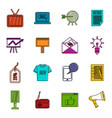 advertisement icons doodle set vector image vector image