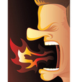 Angry Fire vector image vector image