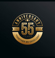 anniversary golden badge 40 years with gold style