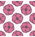Beautiful seamless background with flowers vector image