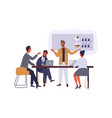 business conference flat boss vector image