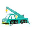 car crane blue vector image vector image