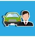 car salesman design vector image vector image