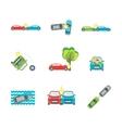 Cartoon Car Crash Set Different Variants Accidents vector image vector image