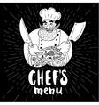 Chif logo menu set vector image vector image