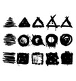 collection grunge hand drawn stamps vector image