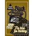 Color vintage black friday sale poster vector image