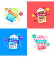 colorful four seasons sale label tag collection vector image