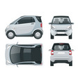 compact small car small compact hybrid vector image vector image