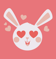 Cute Bunny Head Crazy in Love vector image