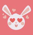 Cute Bunny Head Crazy in Love vector image vector image