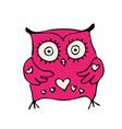 cute owlhand drawn mascot vector image vector image
