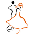 Dancing couple 1 vector image