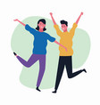 dancing couple avatar vector image vector image