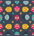 day dead seamless pattern vector image vector image