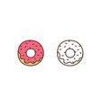 delicious doughnut linear icon sweet vector image