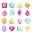 diamond and gemstone set precious design for gift vector image vector image