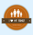 family members silhouette characters seal stamp vector image vector image